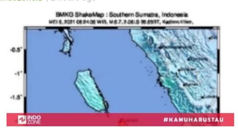 Gempa Guncang Sumbar dengan Magnitudo 5,8