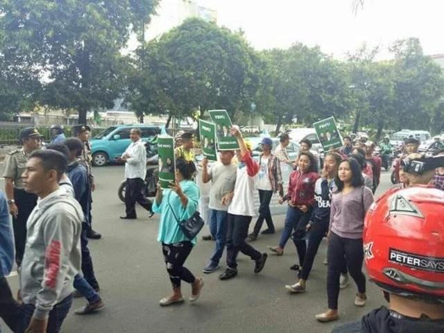 Aksi yang mengatasnamakan Aliansi Santri Nusantara