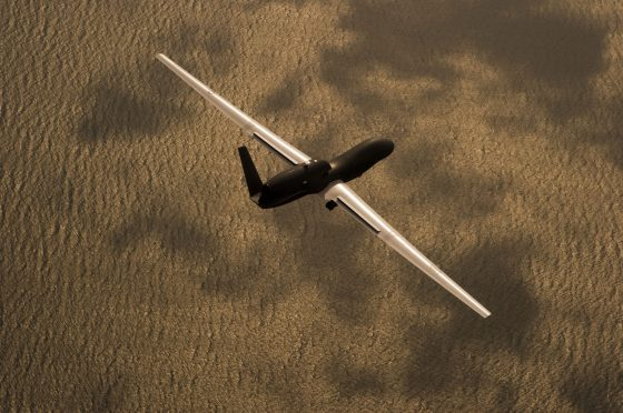 RQ-4 Global Hawk over PAX RIVER, MD. GHMD BAMS