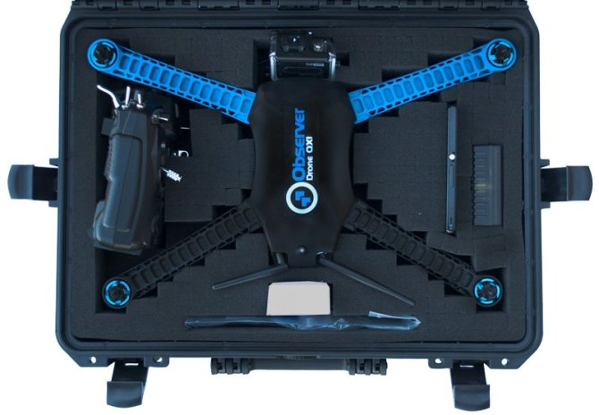Observer-QX1-agriculture-drone-packed-in-case-ready-to-fly-vertical-uav-show-off