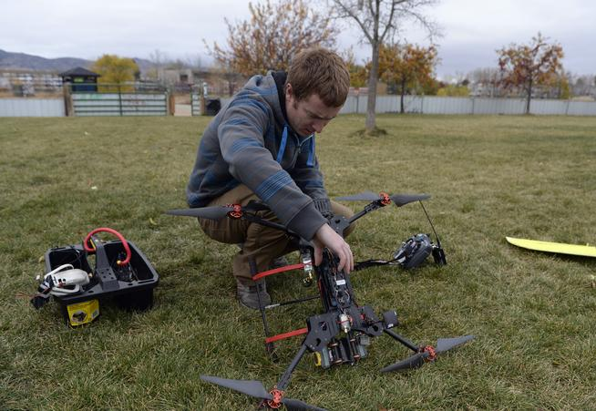 Agribotix, a start-up in Boulder, manufactures drones for agricultural use.