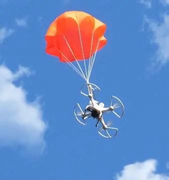 MS multicopter under orange chute 1