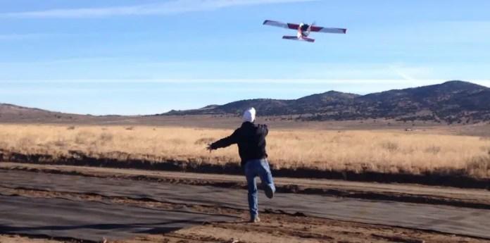 Precisionhawk launching drone