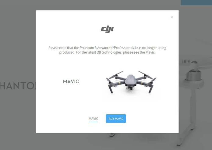 DJI Phantom 3 Pro no longer available in DJI store