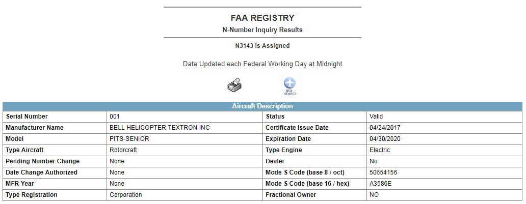 faa engine serial number search