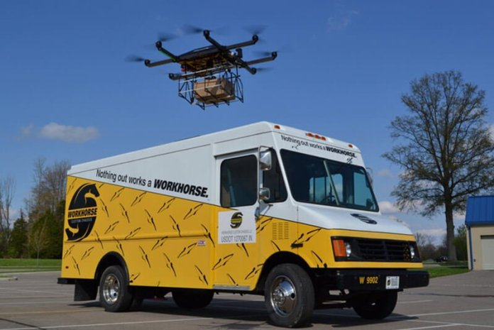 Workhorse Drone Delivery Truck System