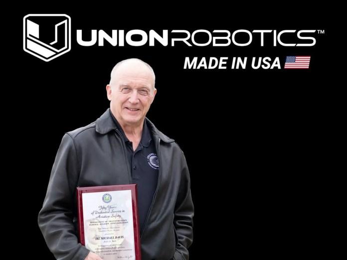 Union Robotics' Mike Davis Receives FAA's Highest Honor Award - sUAS Information 1