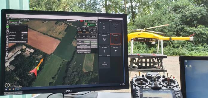 SPH Engineering, Velos Rotors partnership augments the primary single rotor helicopter taking off, surveying - sUAS Information 1