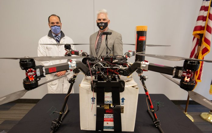 UMD Crew Honored for First Organ Transplant by Drone - sUAS Information 3