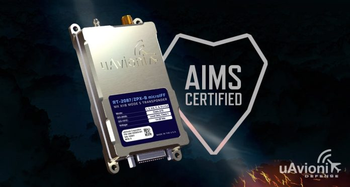 uAvionix Receives DoD AIMS Certification for Mode 5 Micro IFF Transponder for UAS - sUAS Information 1