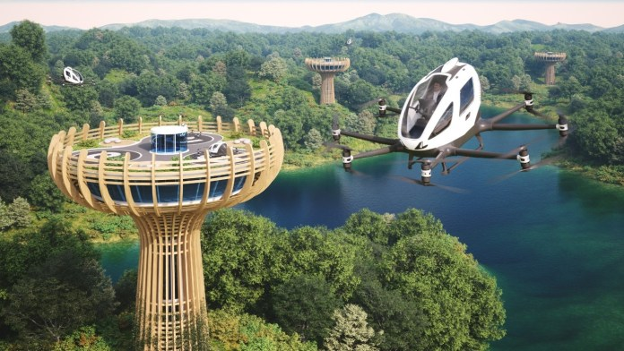 EHang Companions with Giancarlo Zema Design Group to Construct Eco-Sustainable Vertiport in Italy - sUAS Information 3