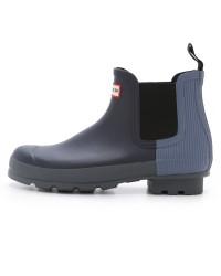 Hunter Midnight Mineral Ribber Chelsea Boot-$140