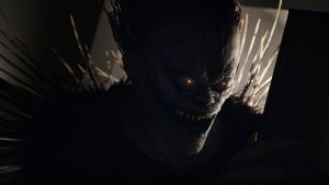 Ryuk, voiced by Willem Dafoe from Netflix's Death Note