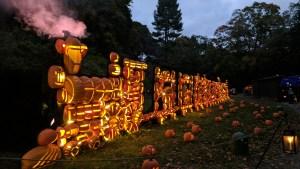 The Pumpkin Circus train at the Jack O'Lantern Blaze in Sleepy Hollow