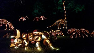 The Pumpkin Jurassic Park at the Jack O'Lantern Blaze in Sleepy Hollow