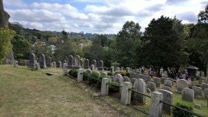May be morbid but there are some great vistas from the inside of the Sleepy Hollow Cemetery