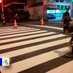 A toda marcha la instalación de más de 3.000 señales de tránsito y 842 pasos peatonales seguros en Bogotá