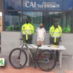 Capturados un delincuente en flagrancia cuando intentaban robar una bicicleta en el conjunto residencial imperial reservado 2