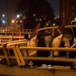 Autoridades buscan a propietario de vehículo estrellado y abandonado en la localidad de Suba