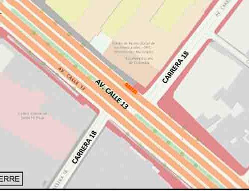 Caótica la movilidad en la calle 13 esta semana por obras
