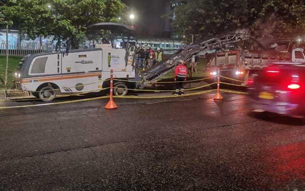 IDU inicia mantenimiento de la malla vial troncal de TransMilenio en Suba