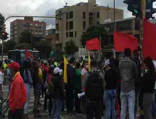 Se registran manifestaciones en la localidad de Suba