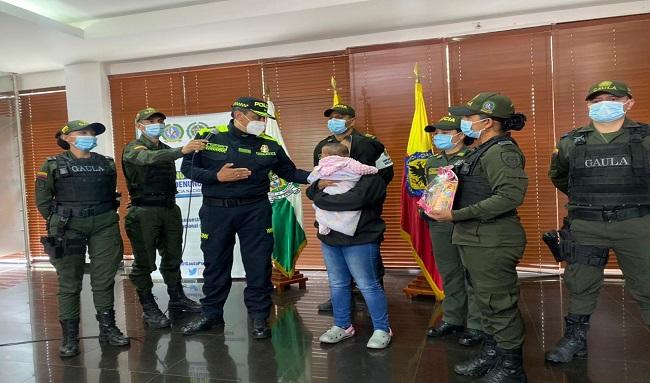Policía de Bogotá rescató una bebé de 6 meses que había sido secuestrada