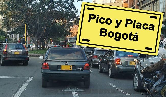 Pico y placa en Bogotá para el viernes 30 de julio