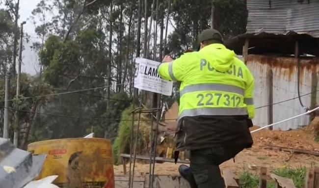 Sellan obras de construcción en zona de reserva forestal de Usaquén