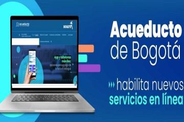 Acueducto de Bogotá habilita nuevos servicios en línea