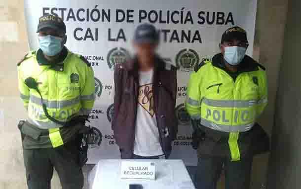 Por el delito de hurto a celular es capturado un hombre en la localidad de Suba