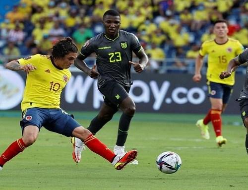 ColombiayEcuadorempataron0-0este jueves en el estadio Metropolitano deBarranquilla