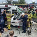 Grave accidente se registro en Bogotá este jueves, una persona quedó atrapada
