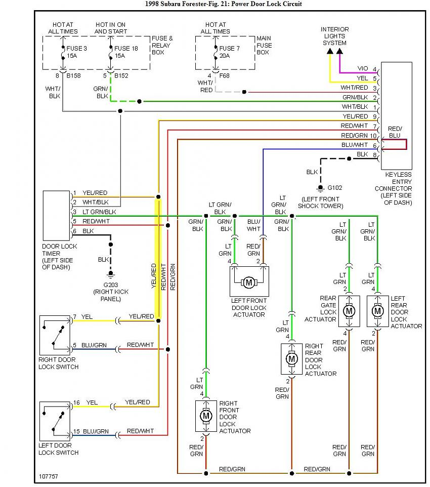 hight resolution of  03 05 door lock and window control wiring question merged thread page 2 subaru forester owners forum