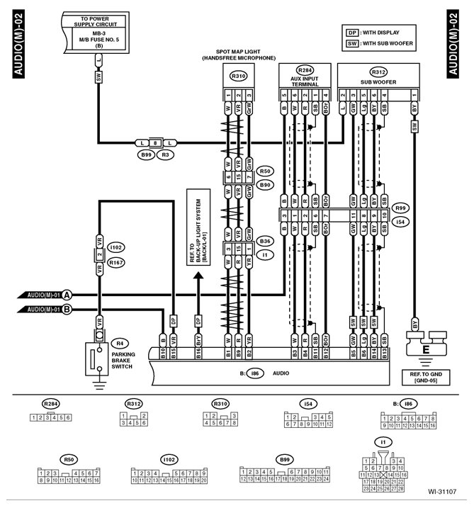 Center Console Aux In And USB In Wiring Diagram Subaru Forester