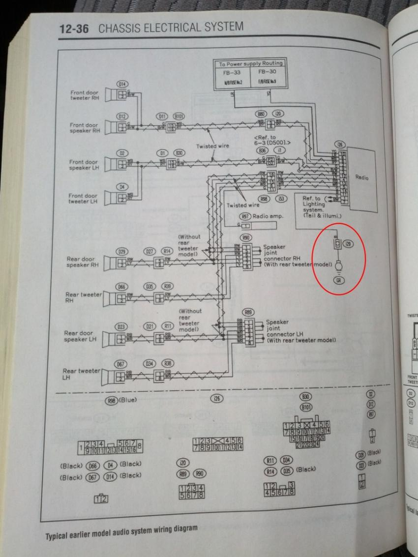 hight resolution of 03 05 clock backlight radio circuit goes off intermittently wire diagram 2004 subaru forester clock