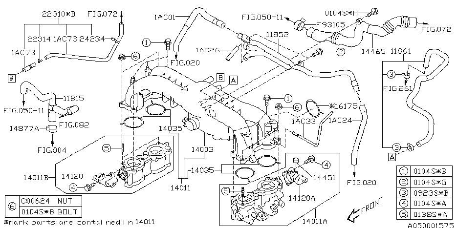 Subaru Legacy: 2005 Subaru Legacy Gt Vacuum Diagram