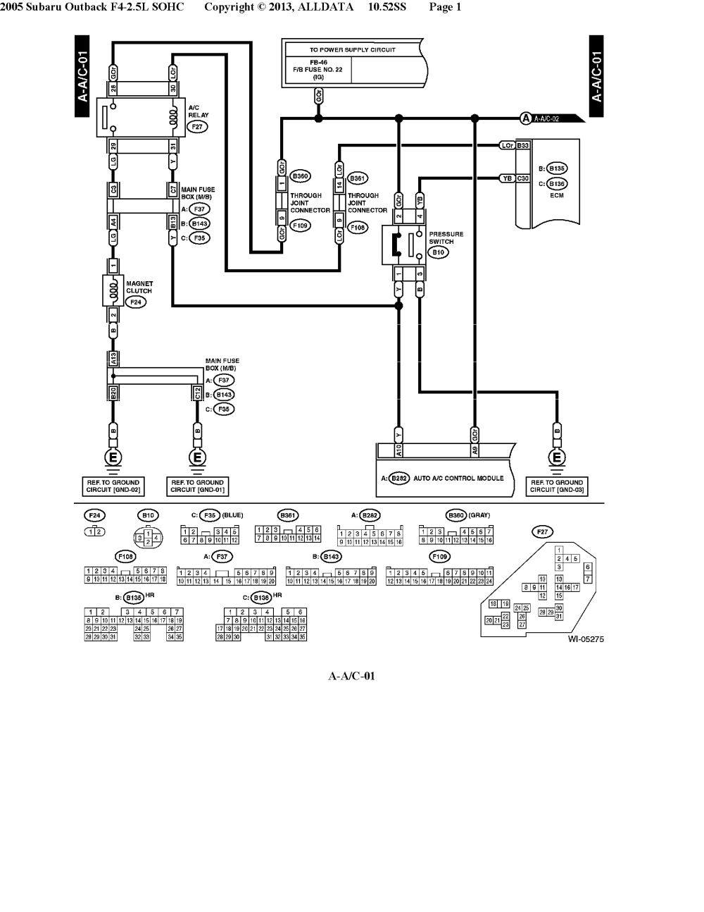 medium resolution of electrical wiring diagrams 2003 subara outback ll bean my wiring mix 05 u0027 h6 a c