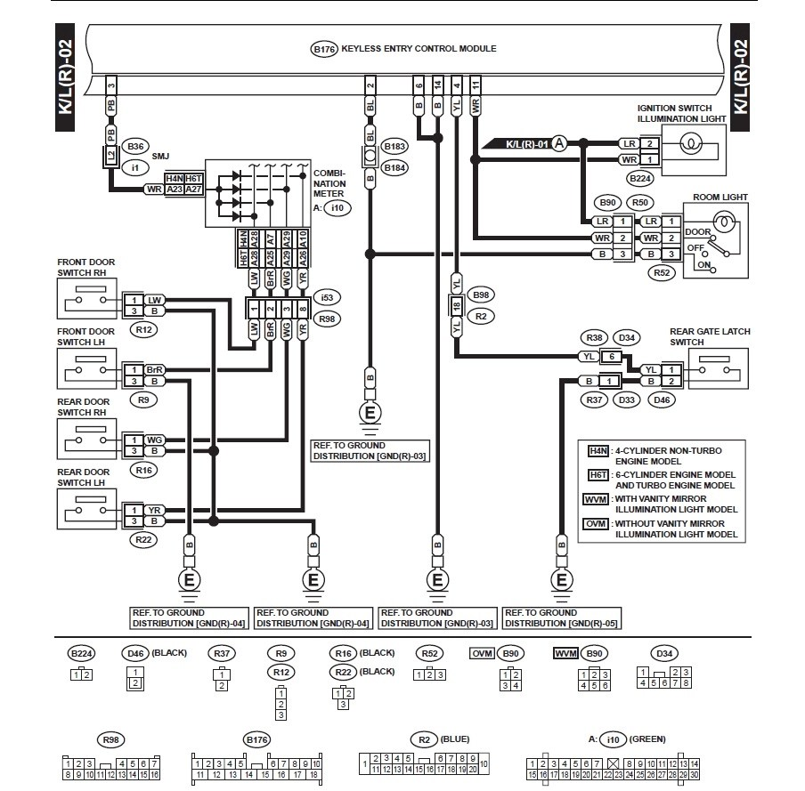 2000 Subaru Outback Keyless Entry Wiring Diagram. Subaru