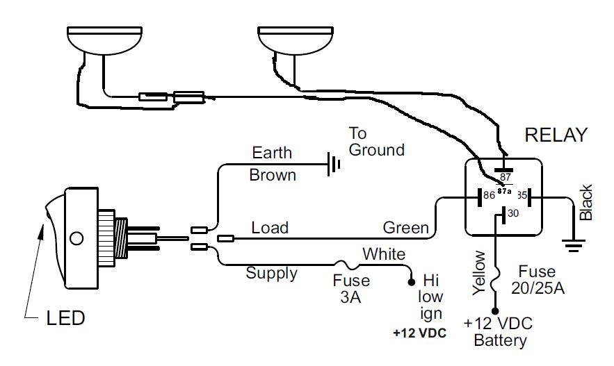 Wiring Diagram For Halogen Lights