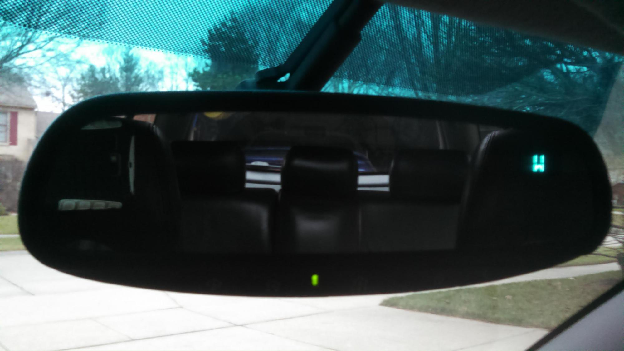 hight resolution of installed gentex homelink auto dimming mirror from a 2006 subaru