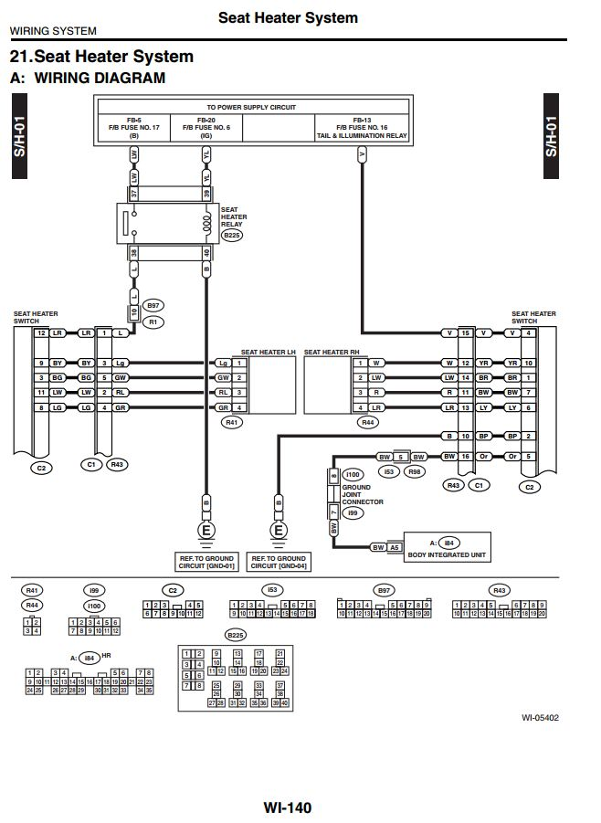 2000 Subaru Outback Wiring Diagram Power Source