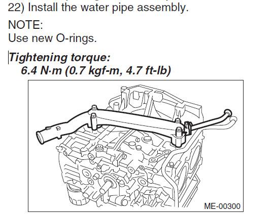 subaru engine coolant leak
