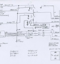 trailer hitch install trailer wiring and auxiliary reverse lights 4 pin flat trailer wiring outback trailer wiring diagram [ 1075 x 800 Pixel ]