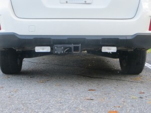 Trailer hitch install, trailer wiring, and auxiliary reverse lights installation  Subaru