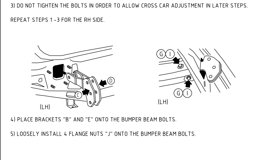 Subaru OEM hitch instructions- THROW AWAY bumper beam