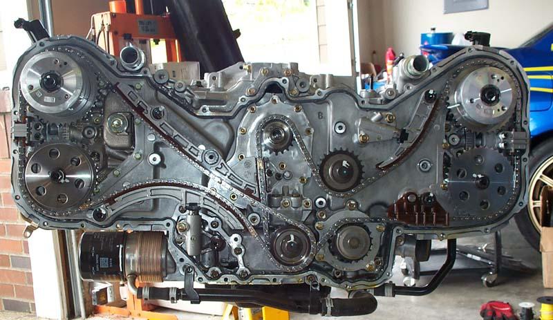 subaru boxer engine tensioner diagram