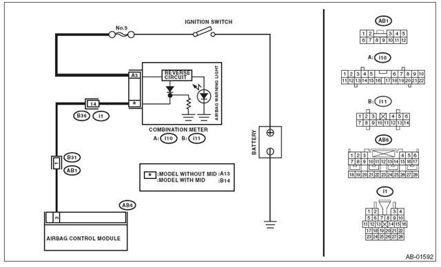 airbag control unit schematic
