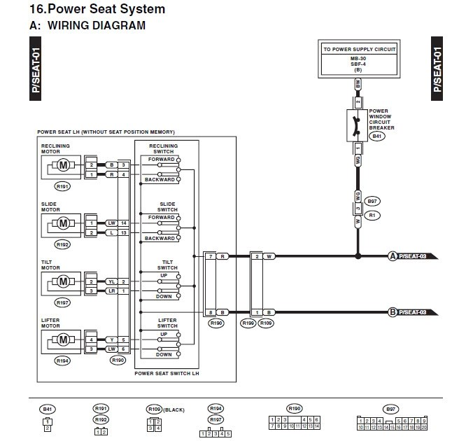 Wiring Diagram 2005 F150 Power Drivers Seat : 43 Wiring