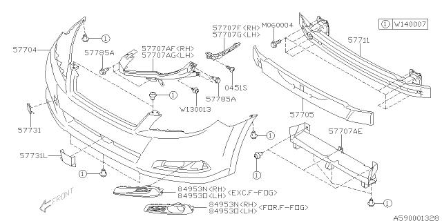 Subaru Outback Body Parts Diagram : 2005 Subaru Outback